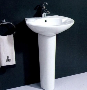 China UPC floor standing wash basin with pedestal on sale