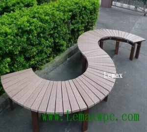 China WPC Application S-form outdoor leisure bench on sale