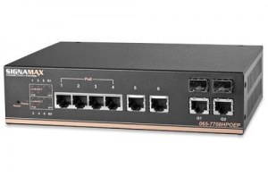 China 6-Port 10/100 Industrial PoE+ Managed Switch + 2-SFP/RJ-45 Dual Media Ports on sale