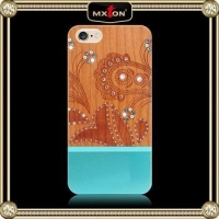 China Popular Custom Print Armor Phone Wooden Case For Iphone 6 on sale