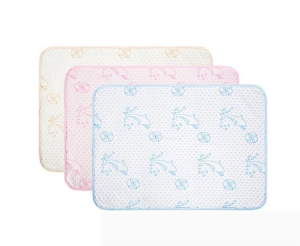 China washable absorbent bed pad bamboo Fiber TPU printed chaning mat on sale