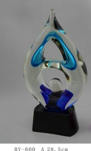 China Art Glass trophy Product No.:BY-600 on sale