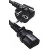 China YP22-YC12 - IEC320 C13 to Shuko Euro Plug Mains Lead, 2 Metre for sale