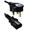China UK-IEC-2M - IEC320 C13 to 5A UK Plug Mains Lead for sale