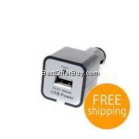 China 500mA Car to USB Power Adapter (Plugs into Cigarette Lighter Slot) [E0496] on sale