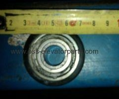 China Door lock roller XIZI Otis with 6002Z ball bearing and rubber cover on sale