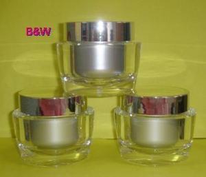 China PMMA (Acrylic) Jar, Oval, 15ml & 30ml & 50ml on sale