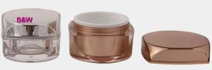 China PMMA (Acrylic) Jar, Square, 5ml & 10ml & 15ml & 30ml & 50ml on sale