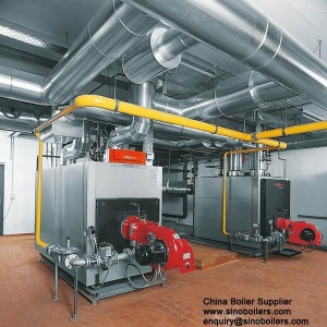 China 0.5-10.5MW hot water boiler gas/ oil heating boiler on sale