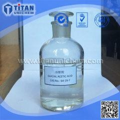 China Glacial Acetic acid 99.8% CAS 64-19-7 (GAA) Ethanoic acid on sale