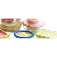 Round fruit and vegetable crisper