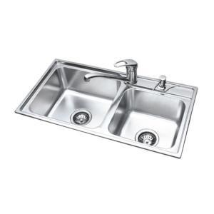 China Topmount Sink TCT7439D Inox Sink Restaurant Kitchen Equipment on sale