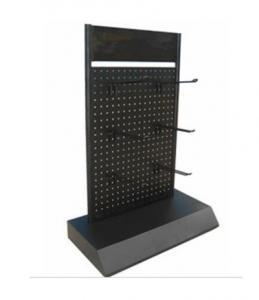 China Slatwall Displays, Pegboard Display Rack with Hooks on sale
