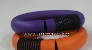 China CR-05 Velcro hair roller/soft twist rubber roller-05 on sale