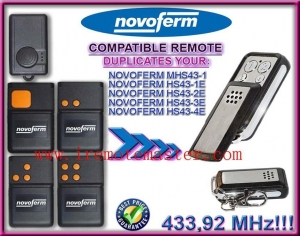 China Title:For NOVOFERM MHS43-1,HS43-1E, HS43-2E, HS43-3E, HS43 -4E remote duplicator 433,92mhz on sale