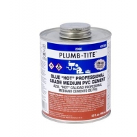 "Products 2000 Series PVC Plumb-Tite Medium ""Hot"" Blue Cement"