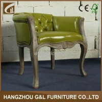 wholesale french style antique wood furniture solid oak living room tub chair