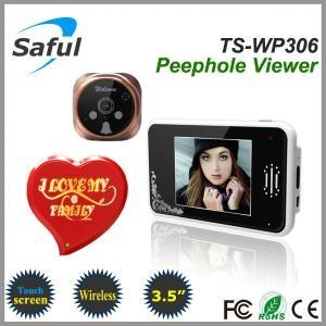 China wireless digital door viewer Saful TS-WP306 2.4GHz Digital Wireless Peephole Viewer on sale