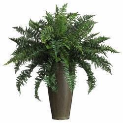 China Ruffle Fern w/Decorative Vase Silk Plant (Indoor/Outdoor) on sale