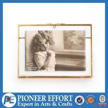 China Square glass hanging picture frames with copper lid on sale