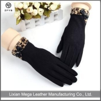 wholesale fashion wool ladies gloves woolen top knitted gloves