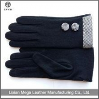 China wholesale ladies black 80% wool,20% nylon gloves on sale