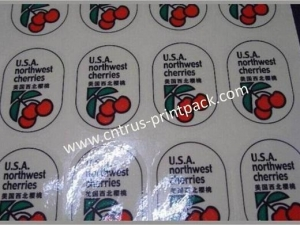 China Fruit Adhesive Label on sale