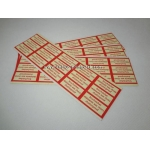Adhesive Labels Stickers