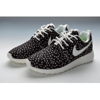 Nike Roshe Run Womens Floral Print Black Running Shoes