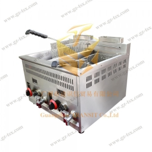 China Commercial western kitchen electric deep fryer,double tanks deep fryer on sale