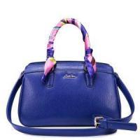 China Designer Leather Satchel Handbag Blue on sale
