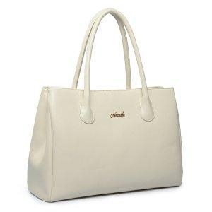 China First Lady Leather Shoulder Bag White on sale