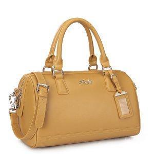 China Designer Cowhide Leather Crossbody Handbag Yellow on sale
