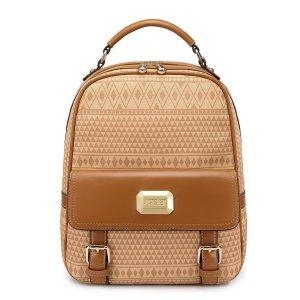 China 2013 Girl PU Leather Backpack/Satchel Handbag Apricot on sale