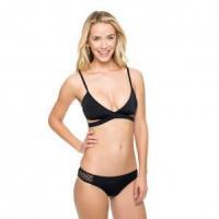 Two-Piece Black Brief Swimwear 21407-1