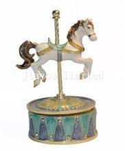 China TBP1039-rocking horse music box carousel musical box on sale