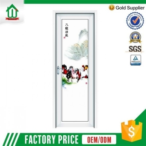 China Aluminum frosted bathroom doors on sale