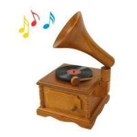 Wooden gramophone vintage music box music box music box birthday