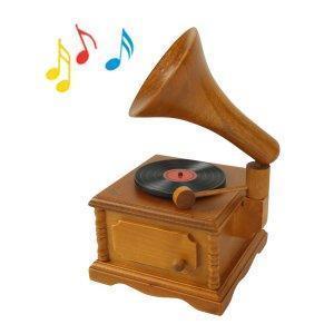 China Wooden gramophone vintage music box music box music box birthday on sale