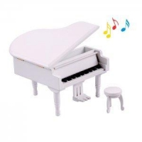 Solid wooden grand piano music box music box white af01086