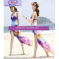 China Scarves Womens Wrap Dress Pareo Sarong Beach Floral Swimwear Cover Up Chiffon Scarf on sale