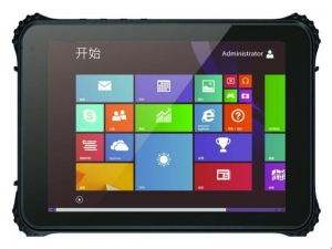 China 8 Inch Windows Mobile Tablet with GPS NFC Barcode Scanner And Docking Station HR840 on sale