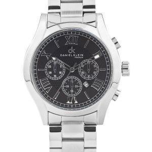 China Daniel Klein Men's Premium DK10324-2 Stainless Steel Analog Watch with Black Dial on sale