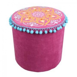 China Wood pink cording stools SH08-151002025 on sale
