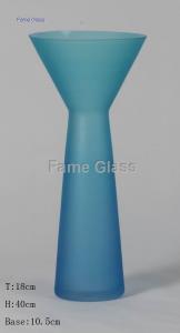 China 201572115289Blue Glass Vase on sale