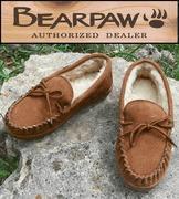 China BEARPAW - Moc's II - Women's Suede Leather Slippers - Sheepskin Wool - Hickory on sale