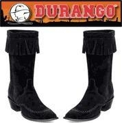 China Durango Boots - Fringe - Womens Leather Western Cowgirl Boots - Black on sale