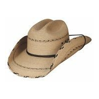 China Montecarlo Bullhide Hats MILLER - 20X Palm Leaf Straw Western Cowboy Hat - Natural on sale