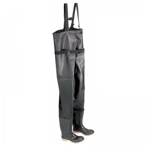 China Men's Steel Toe Chest Wader Boots with Cleated Outsole on sale