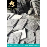 G654 Sf Mushroom Stone China Pudang Black Granite Nature Split Surface